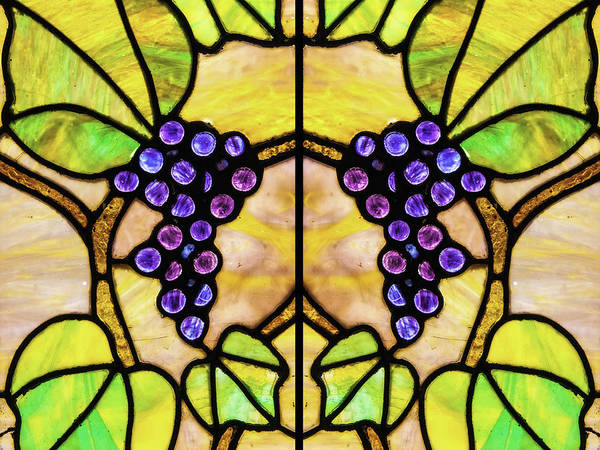 Photograph - Stained Glass Grapes 03 by Jim Dollar