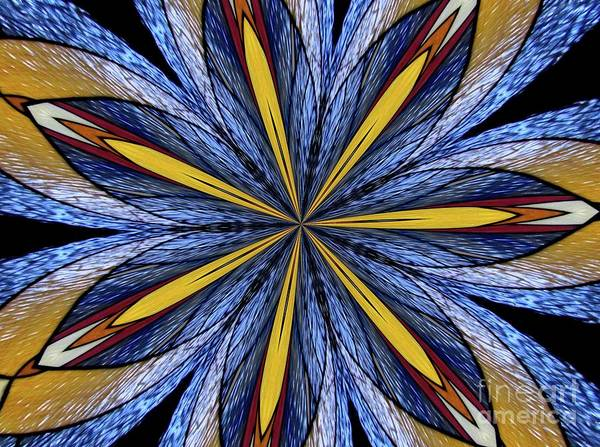 Photograph - Stained Glass Kaleidoscope 26 by Rose Santuci-Sofranko