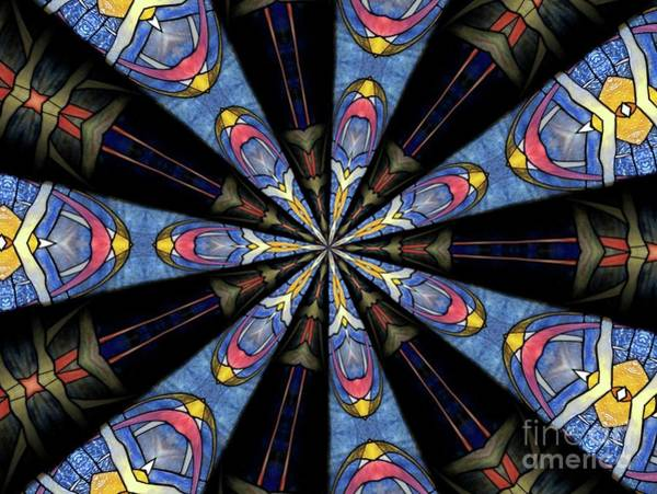 Photograph - Stained Glass Kaleidoscope 28 by Rose Santuci-Sofranko