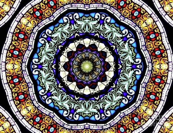 Photograph - Stained Glass Kaleidoscope 30 by Rose Santuci-Sofranko