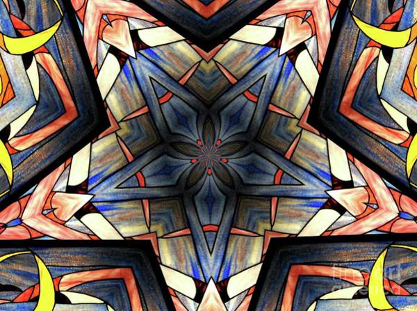 Photograph - Stained Glass Kaleidoscope 36 by Rose Santuci-Sofranko