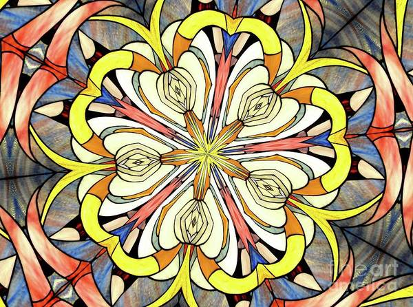 Photograph - Stained Glass Kaleidoscope 43 by Rose Santuci-Sofranko