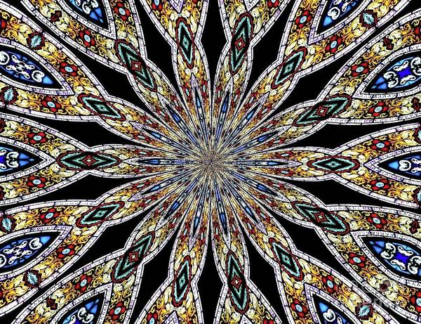 Photograph - Stained Glass Kaleidoscope 44 by Rose Santuci-Sofranko