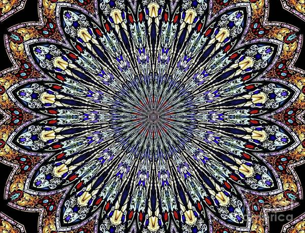 Photograph - Stained Glass Kaleidoscope 53 by Rose Santuci-Sofranko