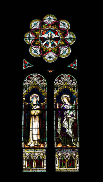 Photograph - Stained Glass Of St. Joseph's Church - Macon, Georgia by Kim Hojnacki