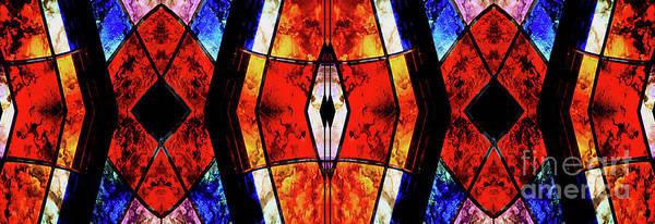 Mixed Media - Stained Glass Panel by Jolanta Anna Karolska