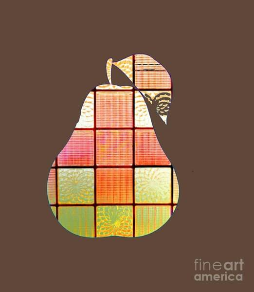Digital Art - Stained Glass Pear by Rachel Hannah