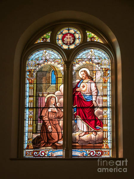 Photograph - Stained Glass St. Stainslaus Winona Minnesota by Kari Yearous