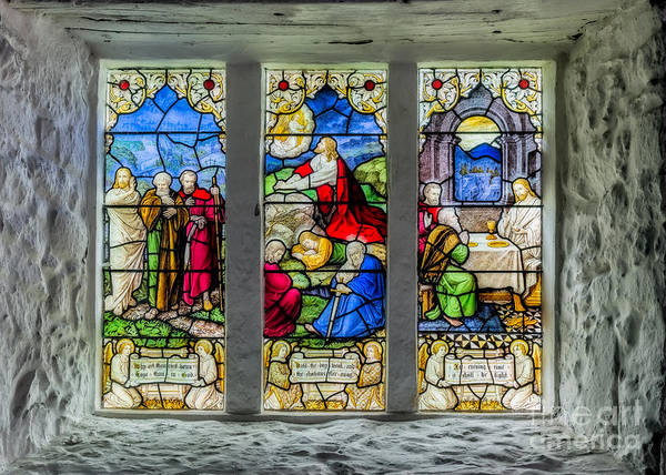 Caerhun Photograph - Stained Glass Triptych by Adrian Evans