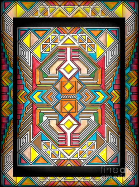 Mixed Media - Stained Glass V by Wbk