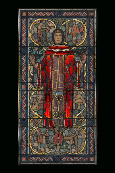 Digital Art - Stained Glass Window 1928 - Remastered by Carlos Diaz