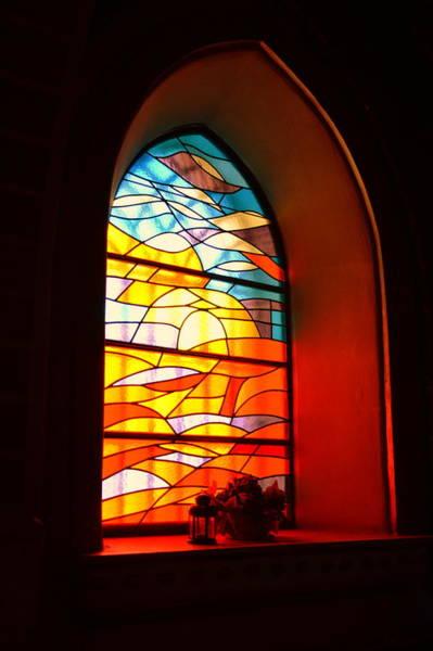 Gorecki Photograph - Stained Glass Window by Henryk Gorecki