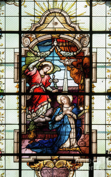 Wall Art - Photograph - Stained Glass Window In The Church Of The Visitation In Skoky Vi by Michal Boubin