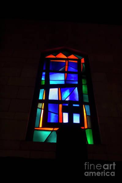 Vitrage Wall Art - Photograph - Stained Glass Window, Nazareth,  by Ilan Rosen