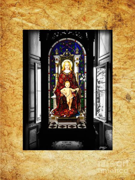 Wall Art - Photograph - Stained Glass Window Of Madonna And Child by Stefano Senise