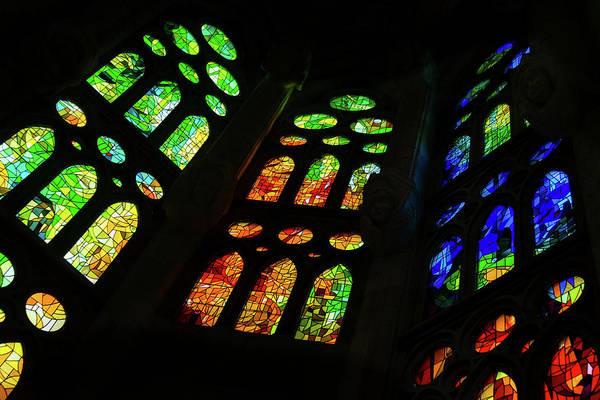 Photograph - Splendorous Stained Glass Windows by Georgia Mizuleva