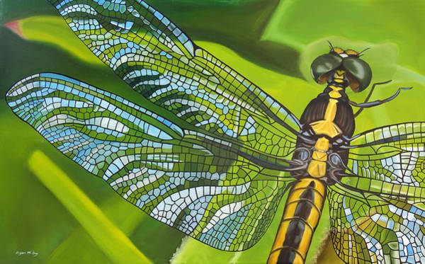 Bryan Painting - Stained Glass Wings by Bryan Ory