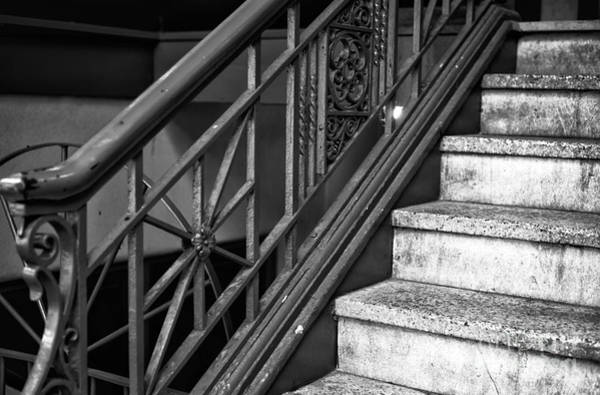 Wall Art - Photograph - Stair Design In Vancouver Mono by John Rizzuto