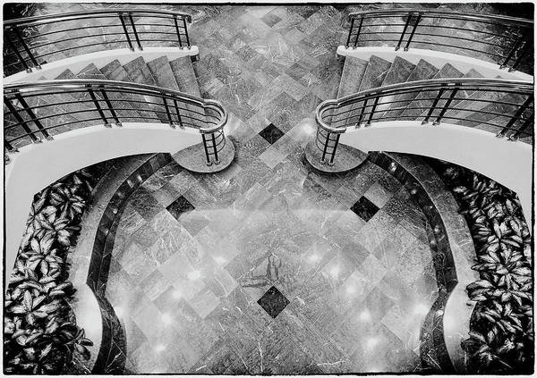 Photograph - Staircase In Monochrome by Rudy Umans