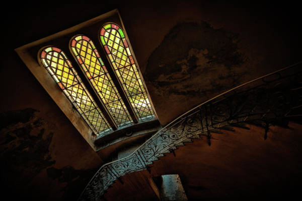 Photograph - Staircase With Glass Window by Enrico Pelos