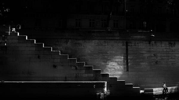 Wall Art - Photograph - Stairs And Sitters by Joseph Smith