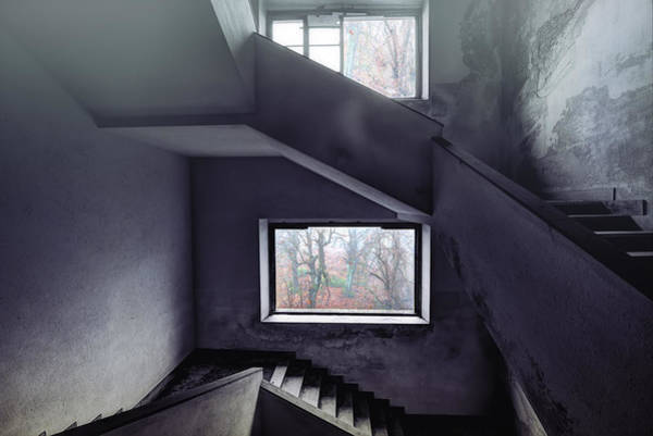 Photograph - Stairs And Windows by Enrico Pelos