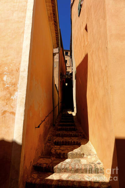 Wall Art - Photograph - Stairs In Roussillon by Olivier Le Queinec