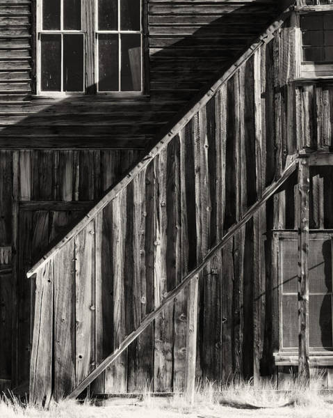 Bodie Ghost Town Wall Art - Photograph - Stairs  Ioof Building by Troy Montemayor