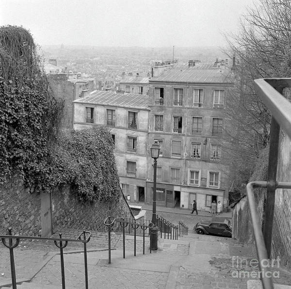 Wall Art - Photograph - Stairs, Montmartre, Paris, 1977 by French School