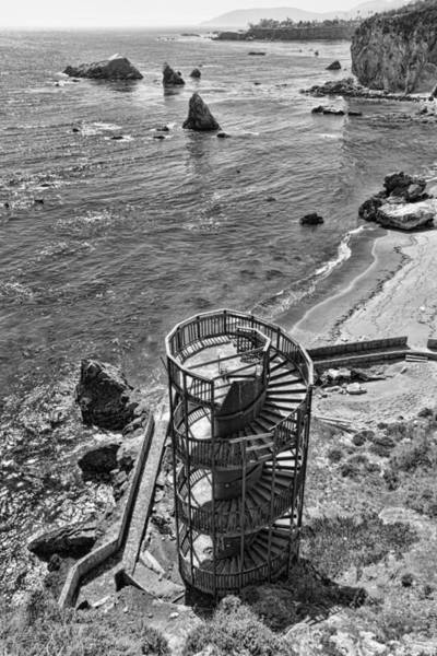 Photograph - Stairs To Nowhere Pismo Beach Black And White by Priya Ghose