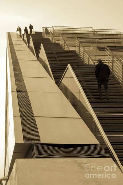 Photograph - Stairs To The Sky Sepia by Marina Usmanskaya