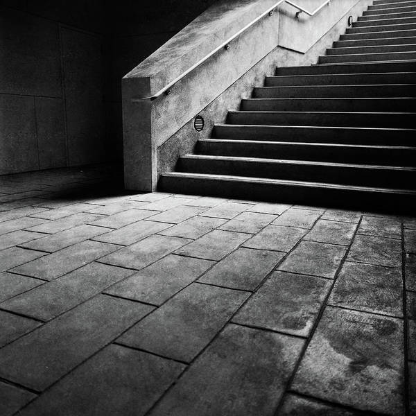 Wall Art - Photograph - Stairs To The Top Bw Parking Structure by YoPedro
