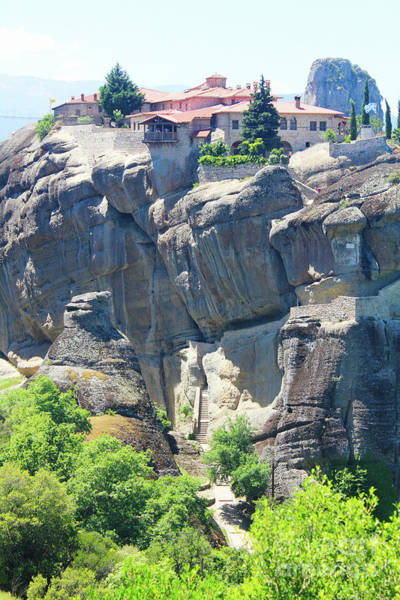 Photograph - Stairs Workout Meteora by Donna L Munro
