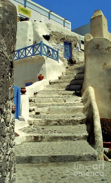 Wall Art - Photograph - Stairway In Santorini by Madeline Ellis
