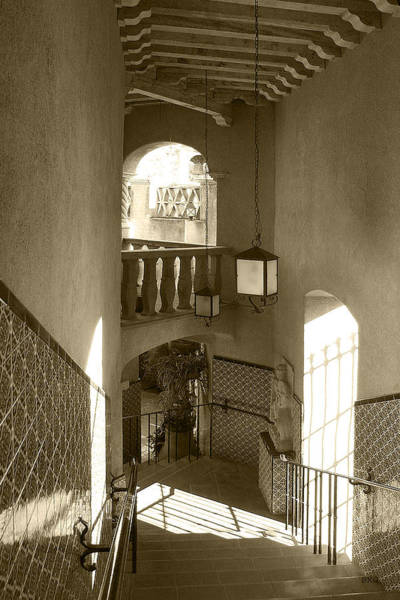 Photograph - Stairway - In Sepia by Ben and Raisa Gertsberg
