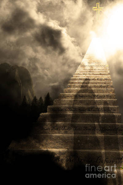 Photograph - Stairway To Heaven V2 Sepia by Wingsdomain Art and Photography