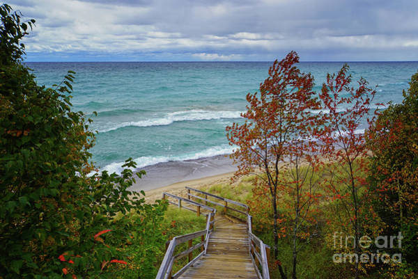 Photograph - Stairway To Lake Superior by Rachel Cohen