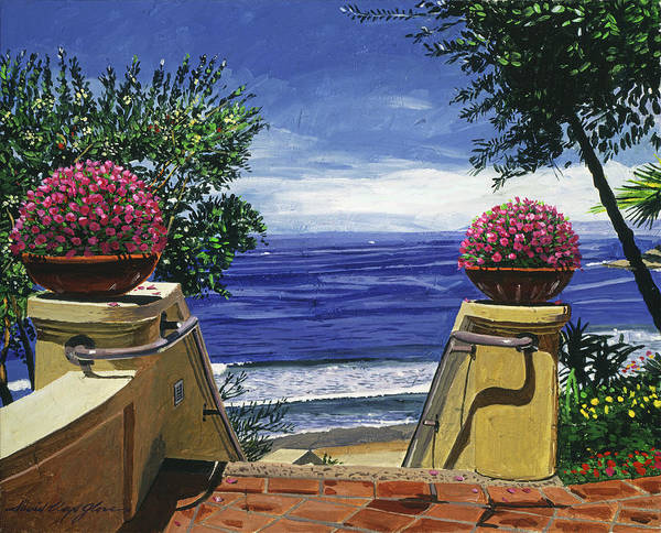 Painting - Stairway To The Blue Pacific by David Lloyd Glover