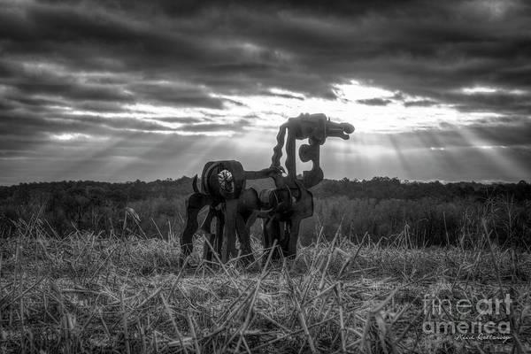 Photograph - Stairways To Heaven Bw Iron Horse Series Art by Reid Callaway
