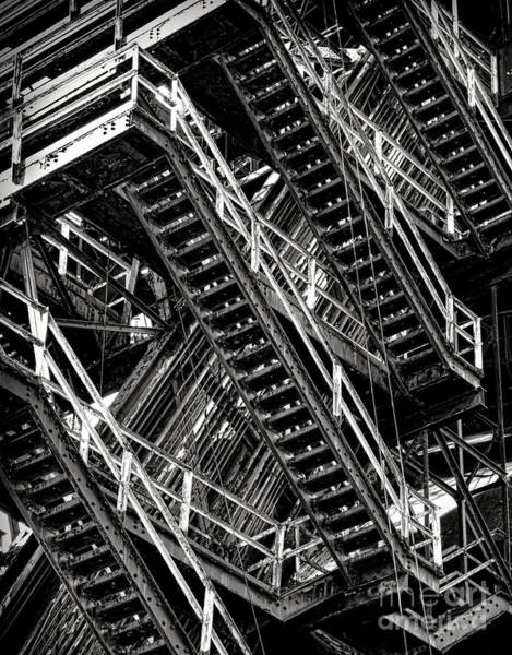 Wall Art - Photograph - Stairwell Hell by Olivier Le Queinec