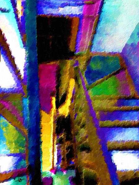 Painting - Stairwell  by Tony Rubino