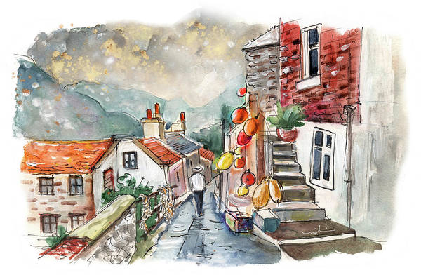 Wall Art - Painting - Staithes 02 by Miki De Goodaboom