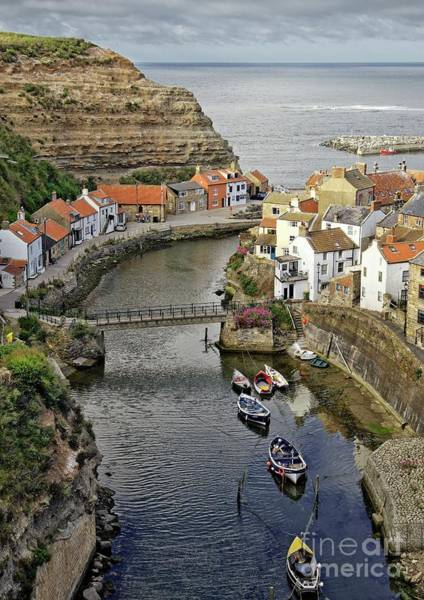 Photograph - Staithes Fishing Village, Yorkshire by Martyn Arnold
