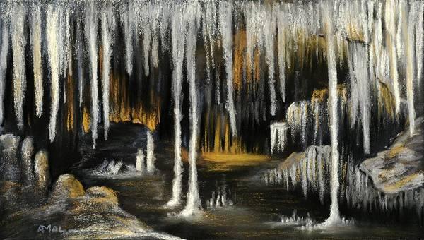 Painting - Stalactite Cave by Anastasiya Malakhova