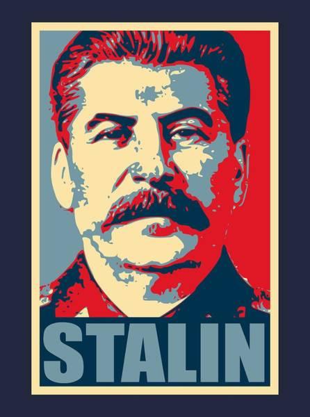 Propaganda Digital Art - Stalin Propaganda Poster Pop Art by Filip Hellman