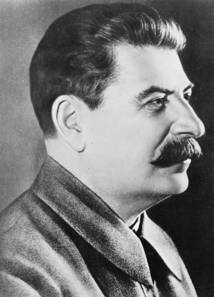 Forties Photograph - Stalin by Russian School