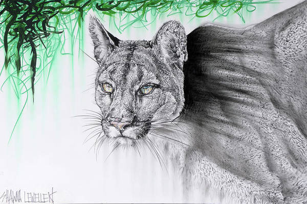 Food Chain Painting - Stalking Cougar by Shawna Lewellen