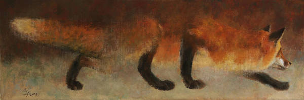 Stalking Fox Art Print