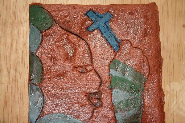 Ceramic Art - Stalwart - Tile by Gloria Ssali