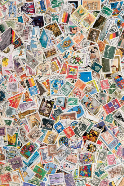 Stamp Collecting Photograph - Stamps by BONB Creative
